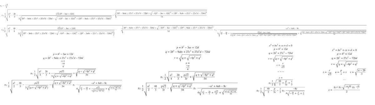 Using a Quartic Equation to Find Parabolic Projectile Paths